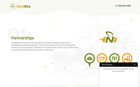 Screenshot of Landing Page nextbee.com - Referral Rewards, Loyalty Programs, and Social Media Advocacy Solutions for Your Customer Acquisition and Retention Efforts - captured Aug. 11, 2017