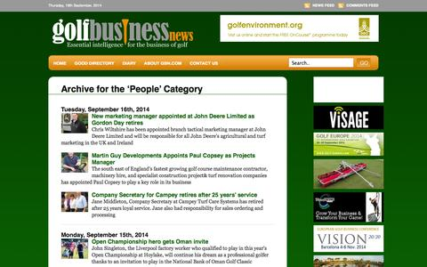 Screenshot of Team Page golfbusinessnews.com - People «  Golf Business News - captured Sept. 19, 2014