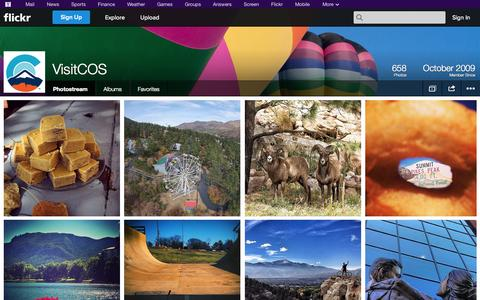 Screenshot of Flickr Page flickr.com - Flickr: VisitCOS' Photostream - captured Oct. 23, 2014