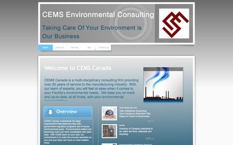 Screenshot of Home Page cemscanada.com - Home - captured July 9, 2016