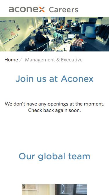 Screenshot of Team Page  aconex.com - General Management | Careers at Aconex