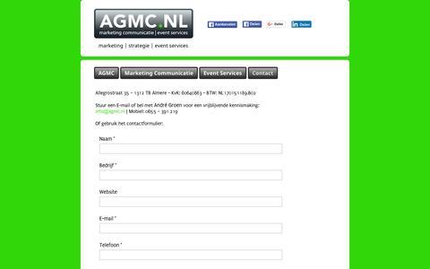 Screenshot of Contact Page agmc.nl - Contact - captured Dec. 22, 2015