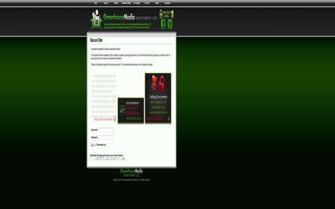 Screenshot of Login Page greenhouse-media.com - Secure Site – Greenhouse Media Investment Ltd - captured Oct. 3, 2014