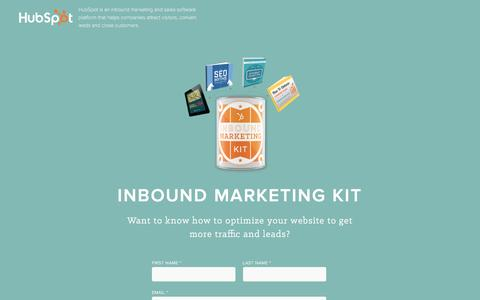 Screenshot of Landing Page hubspot.com - Free Download: Inbound Marketing Kit - captured Feb. 29, 2016