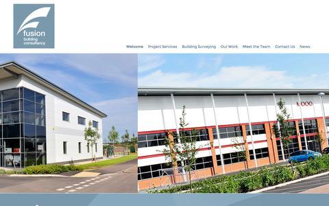 Screenshot of Home Page fusionbc.co.uk - Fusion   Fusion - captured Oct. 6, 2014