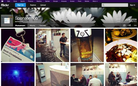 Screenshot of Flickr Page flickr.com - Flickr: sponsormob's Photostream - captured Oct. 26, 2014