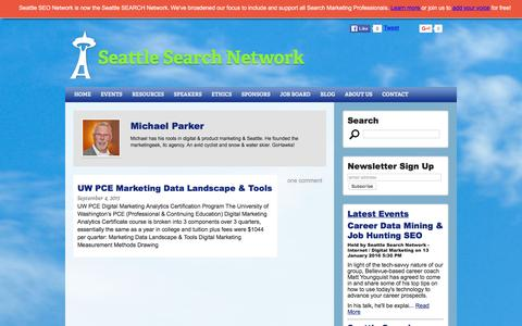Screenshot of Maps & Directions Page seattlesearchnetwork.org - Michael Parker - Seattle Search Network - captured Dec. 19, 2015