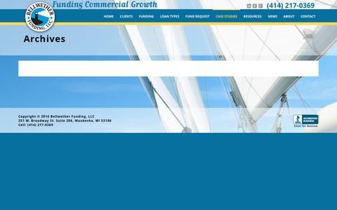 Screenshot of Case Studies Page bellwetherfunding.com - Portfolios Archive - Bellwether Funding - captured Feb. 7, 2016