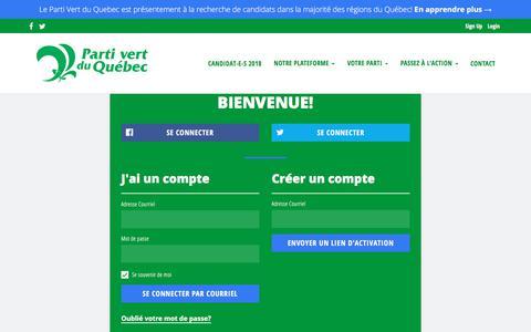 Screenshot of Login Page nationbuilder.com - Sign in - captured Feb. 22, 2018