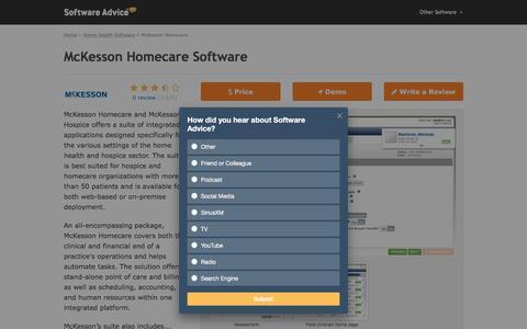 McKesson Homecare Software - 2018 Reviews, Pricing & Demo
