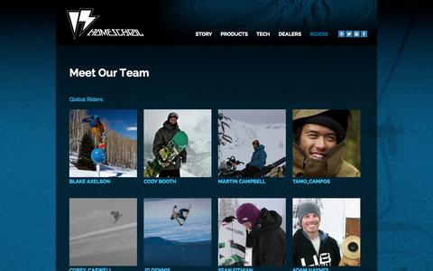 Screenshot of Team Page homeschoolsnowboarding.com captured Sept. 16, 2014