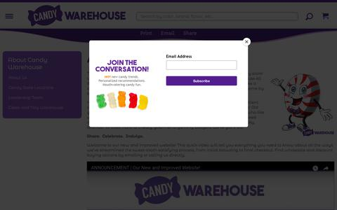 Screenshot of About Page candywarehouse.com - About Us | CandyWarehouse.com - captured Sept. 23, 2018