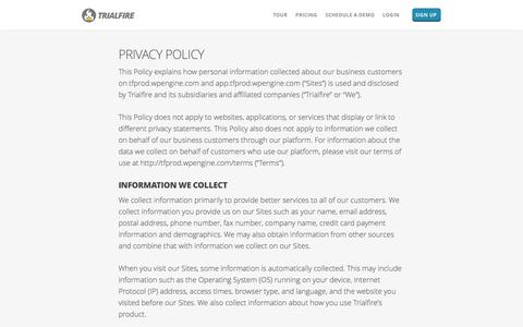 Privacy | Trialfire