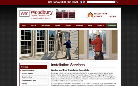 Screenshot of Services Page woodburysupply.com - Woodbury Supply | Installation Services, Oxford, CT - captured Oct. 29, 2014