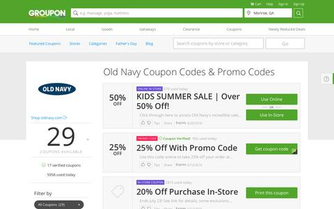 Old Navy Coupons & Coupon Codes 2016 - Groupon