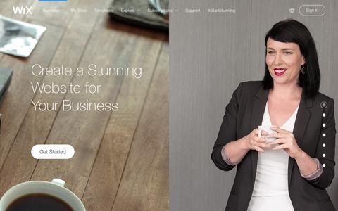 Screenshot of Services Page wix.com - Business Website Builder | Create Small business website | Wix.com - captured Feb. 25, 2016