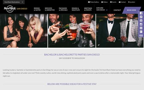 San Diego Bachelor & Bachelorette Party | HARD ROCK HOTEL SAN DIEGO Bachelor party & San Diego Bachelorette Party ideas