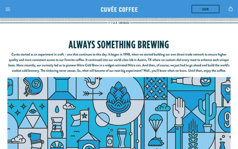 Screenshot of About Page cuveecoffee.com - About Us – Cuvée Coffee - captured Nov. 5, 2018
