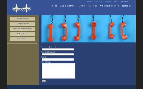 Screenshot of Contact Page afktc.com - KTC |   Contact Us - captured Oct. 6, 2014