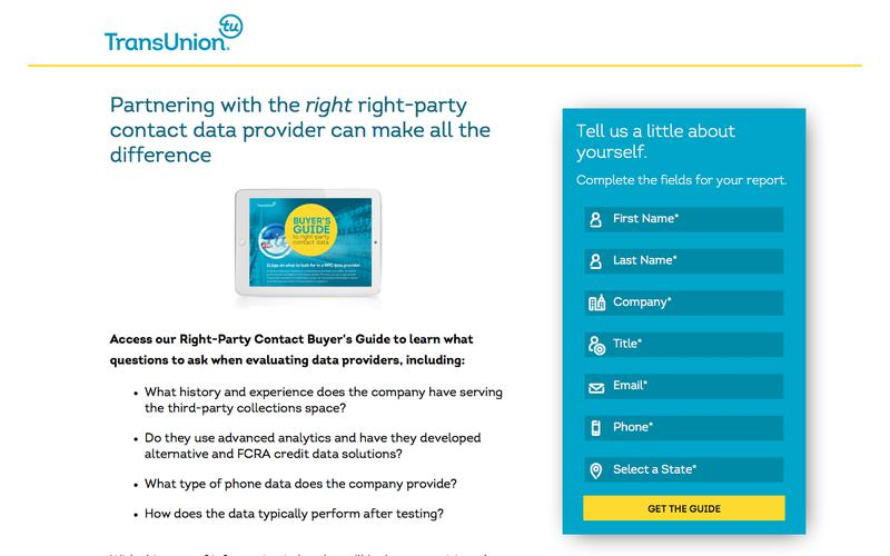 Right-Party Contact Buyer's Guide   TransUnion