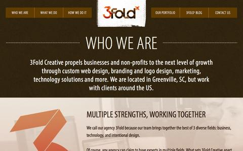 Screenshot of About Page 3foldx.com - Who We Are - 3Fold Creative - captured Oct. 27, 2014