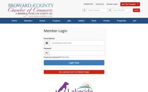 Screenshot of Login Page browardbiz.com - Login Now - Broward County Chamber of Commerce - captured Oct. 6, 2018