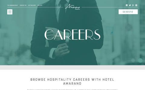 Screenshot of Jobs Page hotelamarano.com - Career & Job Opportunities - Burbank Hotel | Hotel Amarano - captured Sept. 13, 2017