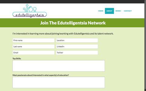 Screenshot of Signup Page edutelligentsia.org - Edutelligentsia |   Join the Edutelligentsia Network - captured July 16, 2018