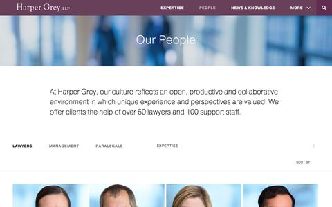 Screenshot of Team Page harpergrey.com - Our People - Harper Grey LLP - captured July 18, 2017