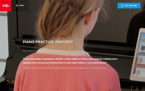 Screenshot of Maps & Directions Page tonara.com - Wolfie for piano app - Tonara - captured Nov. 18, 2015