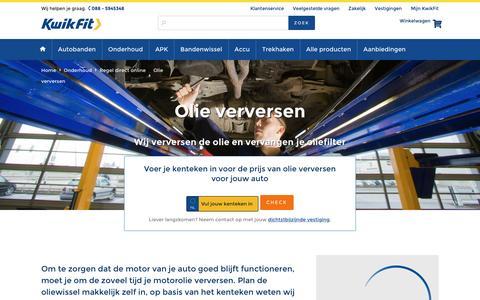 Olie verversen voor de Laagste Prijs? Plan nu online! | KwikFit