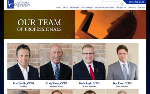 Screenshot of Team Page landmarkrealestate.net - -Landmark Commercial Real Estate - captured Jan. 25, 2016