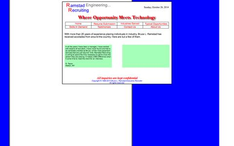 Screenshot of Testimonials Page ramstad.com - Testimonials From Some of Our Satisfied Candidates - captured Oct. 26, 2014