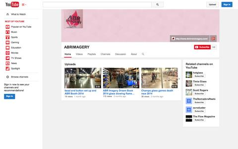 Screenshot of YouTube Page youtube.com - ABRIMAGERY  - YouTube - captured Oct. 23, 2014