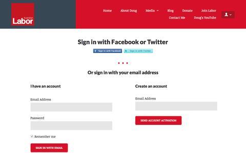 Screenshot of Login Page nationbuilder.com - Sign in - captured May 26, 2016