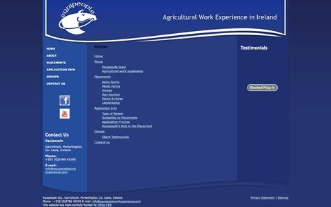 Screenshot of Site Map Page equipeopleworkexperience.com - Equipeople - Agricultural Work Experience Programme Ireland - captured Nov. 9, 2016