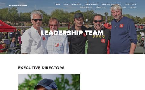 Screenshot of Team Page scuderiasouthwest.com - Leadership Team — Scuderia Southwest - captured Jan. 16, 2018
