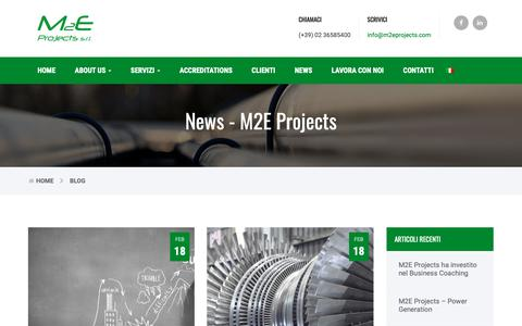 Screenshot of Press Page m2eprojects.com - News - M2E Projects - captured Oct. 1, 2018