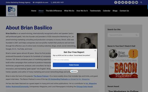 Screenshot of About Page b2b-im.com - About B2b - B2b Interactive Marketing | Social Media Marketing Agency - 630-692-1431 - captured Sept. 30, 2018