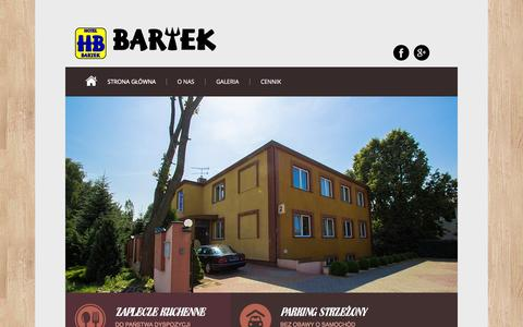 Screenshot of Home Page hotel-bartek.pl - Hotel Bartek - captured Oct. 11, 2015