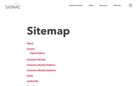 Sitemap - Signal