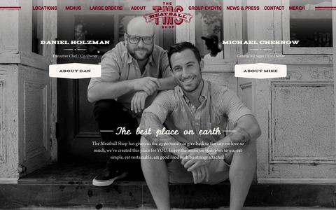 Screenshot of Team Page themeatballshop.com - Team - The Meatball Shop - captured Sept. 22, 2014