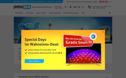 Screenshot of Jobs Page preis24.de - preis24.de bietet Jobs in einem Unternehmen mit Zukunft - captured June 25, 2017