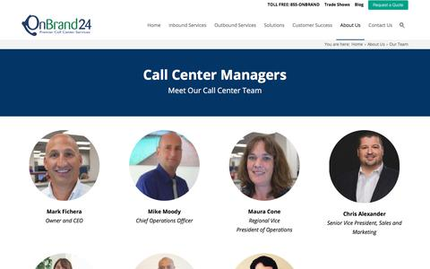 Screenshot of Team Page onbrand24.com - Meet Our Call Center Team | Call Center Managers - OnBrand24 - captured July 16, 2018