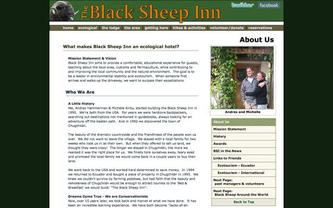 Screenshot of Press Page blacksheepinn.com - Black Sheep Inn -- About us and our Eco-Resort in Ecuador, and its history in Chugchilán. - captured Oct. 27, 2014