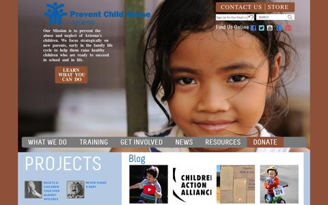 Screenshot of Home Page pcaaz.org - Join Us in Prevention - Prevent Child Abuse Arizona - captured Oct. 2, 2014