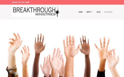 Screenshot of Signup Page breakthroughmn.org - Volunteer - captured Nov. 23, 2016