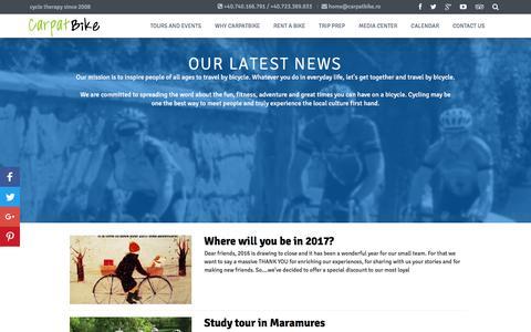 Screenshot of Press Page carpatbike.ro - News Archive – CarpatBike - captured May 15, 2017
