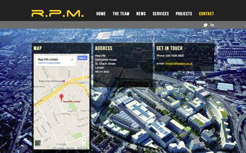 Screenshot of Contact Page realpm.co.uk - Contact | RPM - captured Oct. 7, 2014