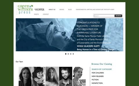 Screenshot of Team Page greenwriterspress.com - Our Team | Green Writers Press - captured May 24, 2017